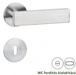 DIRECT Laprozettás kilincsgarnitúra WC, inox