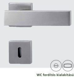 CARLA Négyzetrozettás kilincsgarnitúra WC, inox