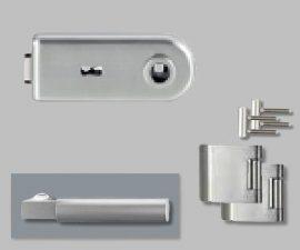CLASSICO üvegajtó garnitúra, METRICO PROF. Kilinccsel BB, inox