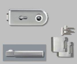 CLASSICO üvegajtó garnitúra, METRICO PROF. Kilinccsel PZ, inox