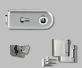 CLASSICO üvegajtó garnitúra kilincs nélkül WC, inox