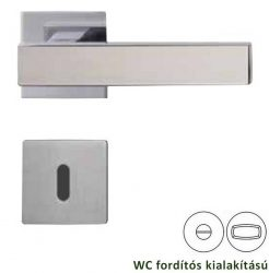 CUBICO PIATTA Négyzet laprozettás kilincsgarnitúra WC, polírozott inox