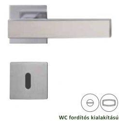 CUBICO PIATTA Négyzet laprozettás kilincsgarnitúra WC, inox