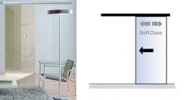 PLANEO 120(G) COMFORT toló üvegajtó vasalat, ezüst