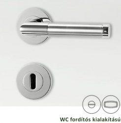 LOREDANA PROFESSIONAL Rozettás kilincsgarnitúra WC, inox/fényes inox