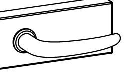 ULMER GRIFF kilincspár üvegajtóhoz