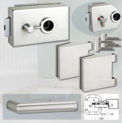 ARCO üvegajtó garnitúra BASIC 02 kilinccsel WC, inox