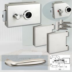 ARCO üvegajtó garnitúra DREAM kilinccsel WC, inox