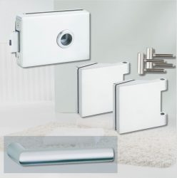 ARCO üvegajtó garnitúra BASIC 02 kilinccsel