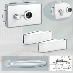 ARCO üvegajtó garnitúra DREAM kilinccsel WC, alu szatén