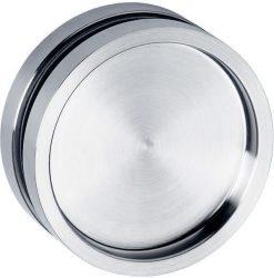 6403 Tolóajtó húzókagyló üvegajtóhoz kerek, zárt, inox