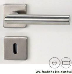 LUCIA SQUARE négyzetrozettás kilincsgarnitúra WC, inox