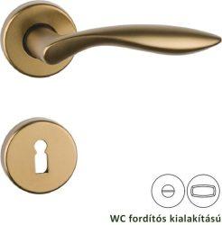 DETROIT Rozettás kilincsgarnitúra WC, bronz színű