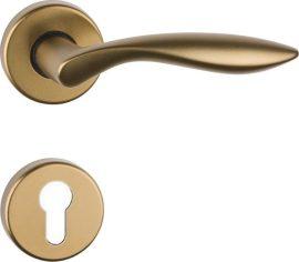 DETROIT Rozettás kilincsgarnitúra PZ, bronz színű