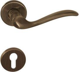 TOLOSA Rozettás kilincsgarnitúra PZ, bronz matt
