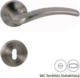 PALLAS Rozettás kilincsgarnitúra WC, szatén nikkel