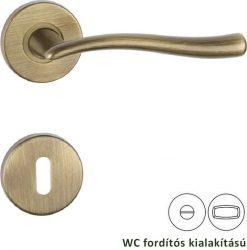 POLARIS Rozettás kilincsgarnitúra WC, bronz színű