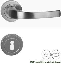 PORTO Rozettás kilincsgarnitúra WC, szatén nikkel