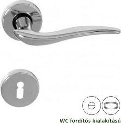 KYRA Rozettás kilincsgarnitúra WC, króm