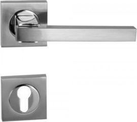 HUMMER Négyzetrozettás kilincsgarnitúra PZ, króm/nikkel szatén