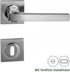 HUMMER Négyzetrozettás kilincsgarnitúra WC, króm/nikkel szatén