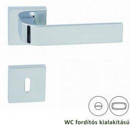 CINTO négyzetrozettás kilincsgarnitúra WC, króm