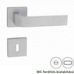 CINTO négyzetrozettás kilincsgarnitúra WC, matt króm