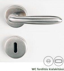 VERONICA Rozettás kilincsgarnitúra WC, inox