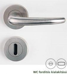 ALDA PROFESSIONAL Rozettás kilincsgarnitúra WC, inox