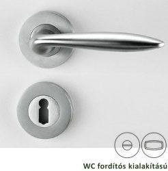ALINA Rozettás kilincsgarnitúra WC, matt nikkel