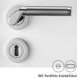 CORINNA Rozettás kilincsgarnitúra WC, króm/inox