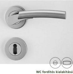 RAFFAELLA Rozettás kilincsgarnitúra WC, króm/szatén alu