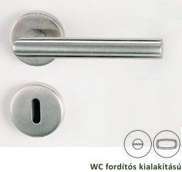 LUCIA Rozettás kilincsgarnitúra WC, inox