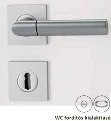 MONICA Négyzetrozettás kilincsgarnitúra WC, alu szatén