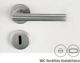 L-FORM rozettás kilincsgarnitúra WC, inox