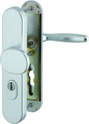 VERONA Biztonsági címes kilincsgarnitúra, cilindervédővel