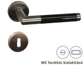 GELBROT CARBON rozettás kilincsgarnitúra WC, inox/Carbon
