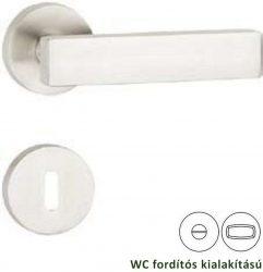 AMMON 100 rozettás kilincsgarnitúra WC, inox