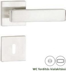 AMMON 100 négyzetrozettás kilincsgarnitúra WC, inox