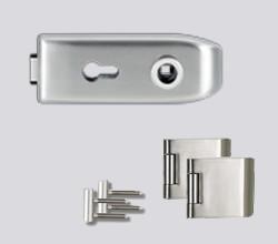 CREATIVO üvegajtó garnitúra kilincs nélkül PZ, inox
