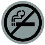 Piktogram, kerek, - nem dohányzó -