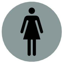 Piktogram, kerek, - női mosdó -