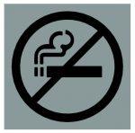 Piktogram, négyzetes, - nem dohányzó -