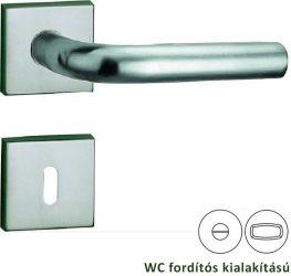BASIC 03 Négyzetrozettás kilincsgarnitúra WC, inox